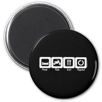 Sleep Ride Eat Repeat Refrigerator Magnet