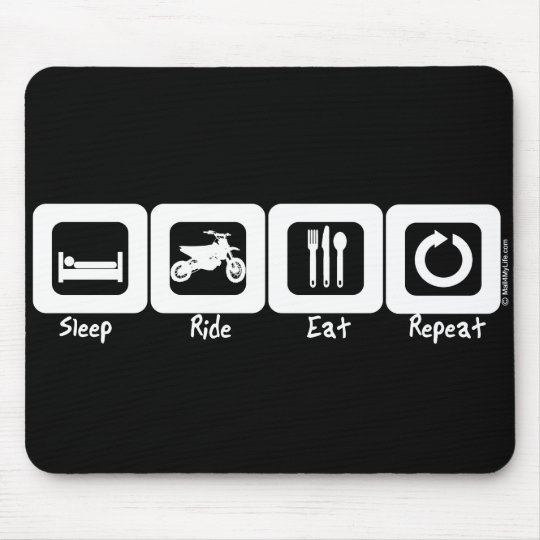 Sleep Ride Eat Repeat Mouse Pad