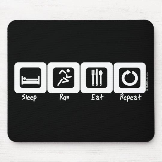 Sleep Run Eat Repeat Mouse Pad