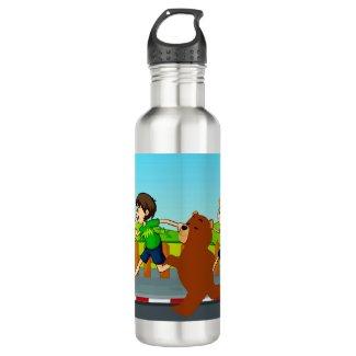 Sleep Running Stainless Steel Water Bottle