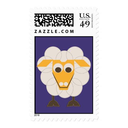 SLEEP-SHEEP - LONVIG por MINYMO Sello Postal