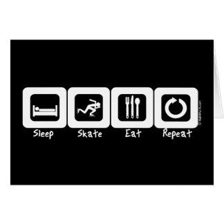 Sleep Skate Eat Repeat Card