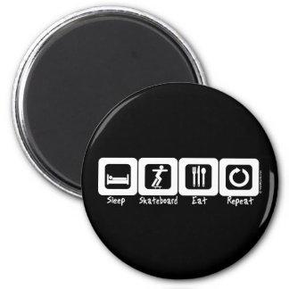 Sleep Skateboard Eat Repeat 2 Inch Round Magnet