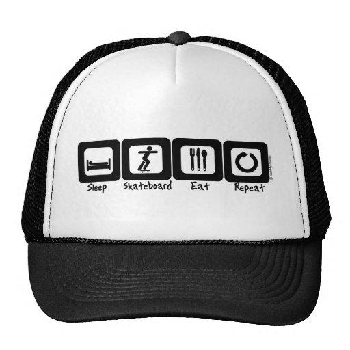 Sleep Skateboard Eat Repeat Mesh Hat