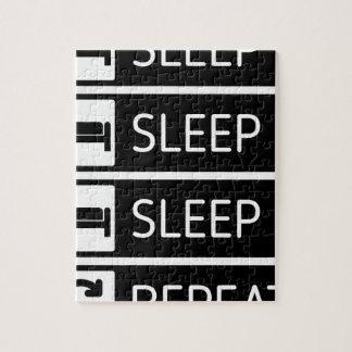 Sleep Sleep Sleep Repeat Jigsaw Puzzle