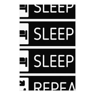 Sleep Sleep Sleep Repeat Stationery