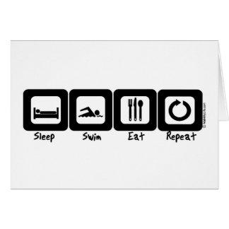 Sleep Swim Eat Repeat Card