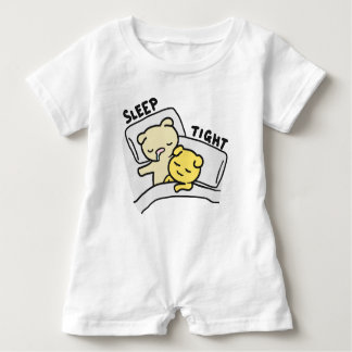 Sleep Tight Cats Doodle Baby Romper
