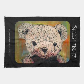 'Sleep Tight' (evil teddy) American MoJo Kitchen T Kitchen Towel