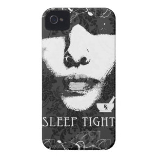 Sleep Tight Jane Black and white iPhone 4 Case-Mate Cases