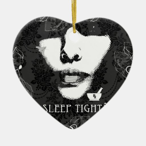 Sleep Tight Jane. Black and white. Ornament