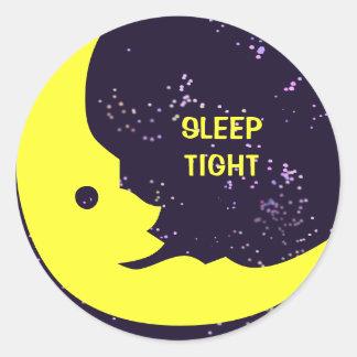 Sleep Tight, Man in the Moon Classic Round Sticker