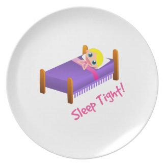 Sleep Tight Melamine Plate