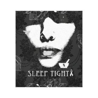 Sleep tight mental health awareness canvas art.