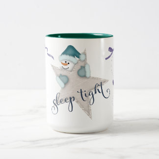 Sleep Tight Snowman Two-Tone Coffee Mug