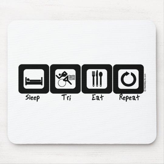 Sleep TrI Eat Repeat Mouse Pad