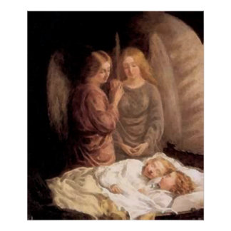 Sleep - Two guardian angels and children Poster