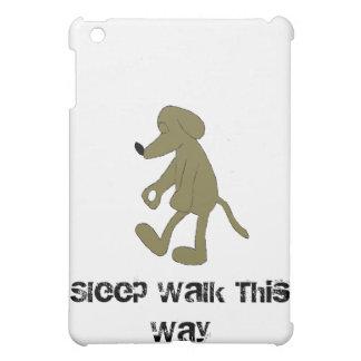 Sleep Walking Cartoon Hound Dog Case For The iPad Mini