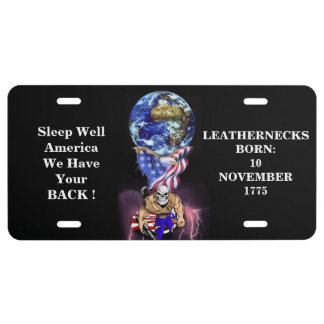 Sleep Well America We Have Your BACK ! License Plate