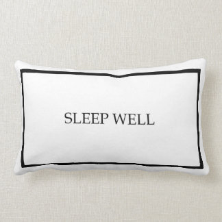 Sleep Well Guest Bedroom Throw Pillow