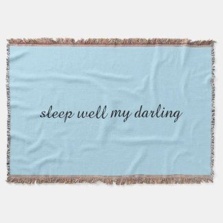 Sleep Well Throw Blanket