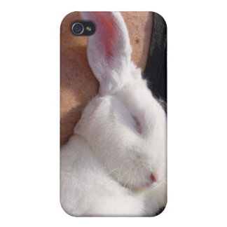 Sleep white Bunny Rabbit Covers For iPhone 4