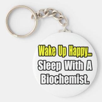 Sleep With a Biochemist Keychain