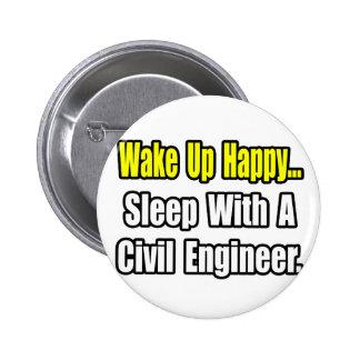 Sleep With A Civil Engineer Button