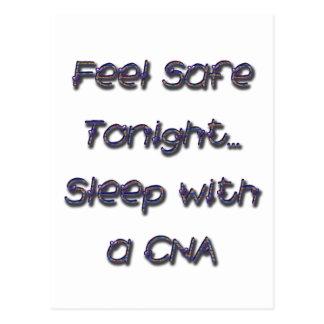 sleep with a CNA Postcard