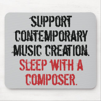 Sleep with a composer mouse mats
