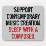 Sleep with a composer mouse pad