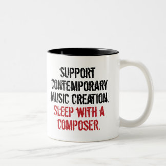 Sleep with a composer Two-Tone coffee mug