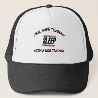 SLEEP WITH A DOG TRAINER TRUCKER HAT