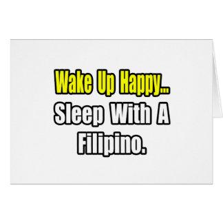 Sleep With a Filipino Greeting Cards