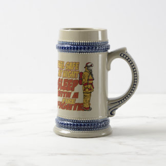 Sleep with a Firefighter Beer Stein