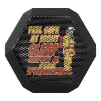 Sleep with a Firefighter Black Bluetooth Speaker