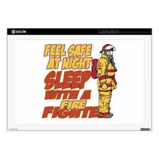 """Sleep with a Firefighter Decals For 17"""" Laptops"""
