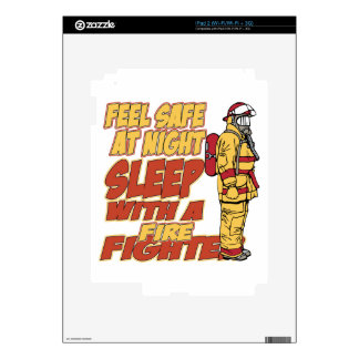 Sleep with a Firefighter Decals For The iPad 2