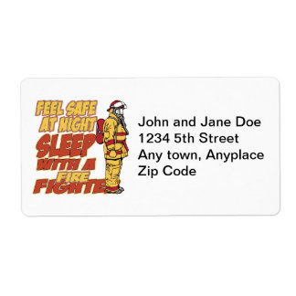 Sleep with a Firefighter Shipping Label