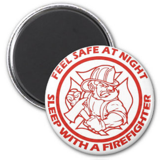 Sleep With A Firefighter Refrigerator Magnets