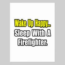 Sleep With a Firefighter Postcard