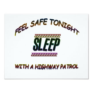 SLEEP WITH A HIGHWAY PARTOL CARD