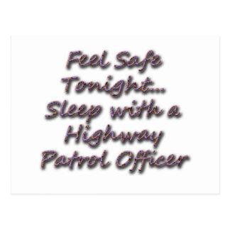 SLEEP WITH A HIGHWAY PATROL POSTCARD