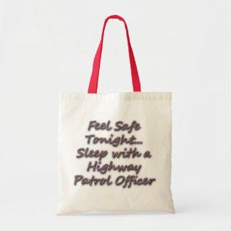 SLEEP WITH A HIGHWAY PATROL TOTE BAG