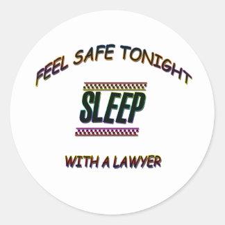 SLEEP WITH A LAWYER CLASSIC ROUND STICKER