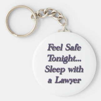 sleep with a lawyer keychain