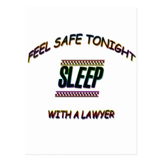 SLEEP WITH A LAWYER POSTCARD