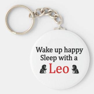 Sleep With a Leo Basic Round Button Keychain