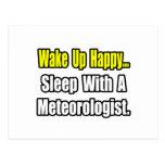 Sleep With a Meteorologist Postcard