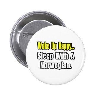 Sleep With a Norwegian Pinback Button